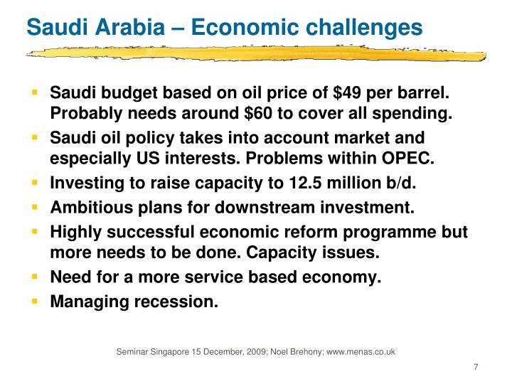 Saudi Arabia – Economic challenges