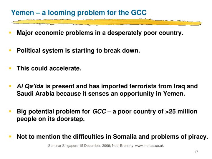Yemen – a looming problem for the GCC