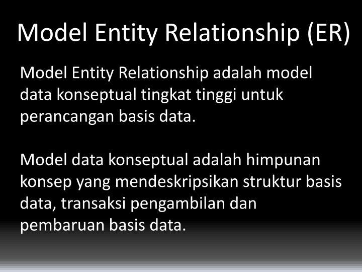 Model Entity Relationship (ER)