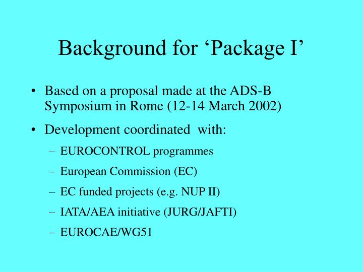 Background for package i
