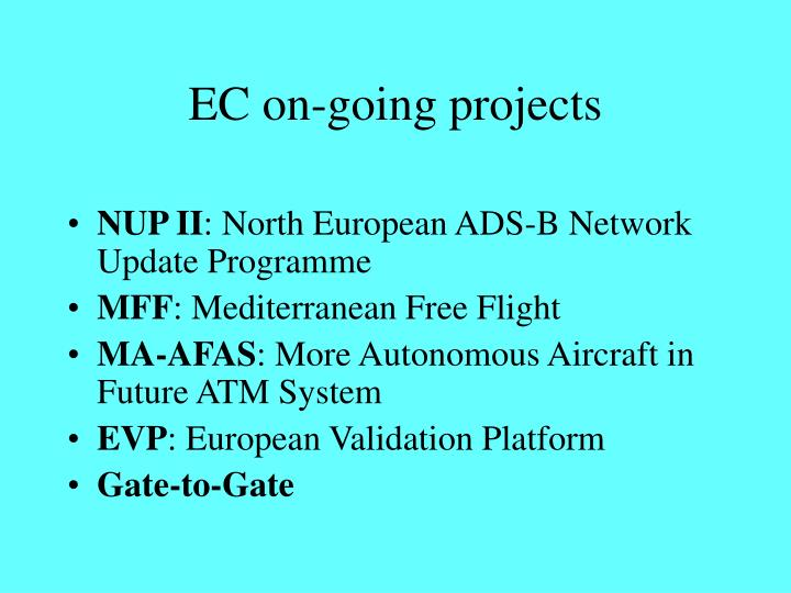 EC on-going projects