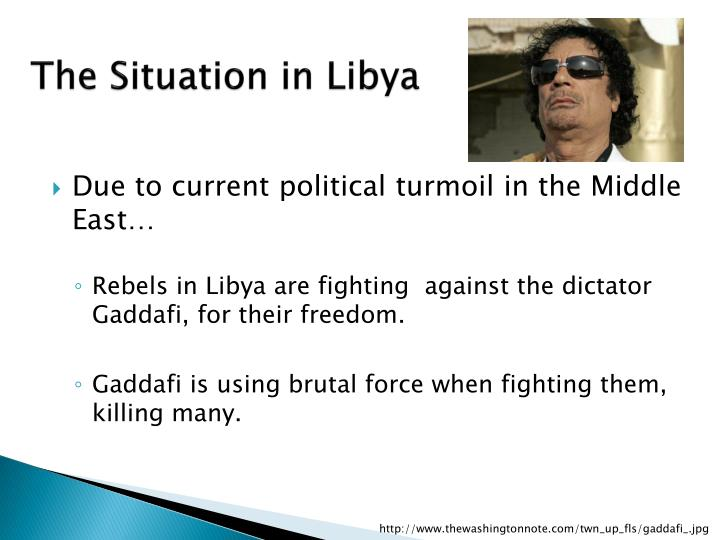 The situation in libya