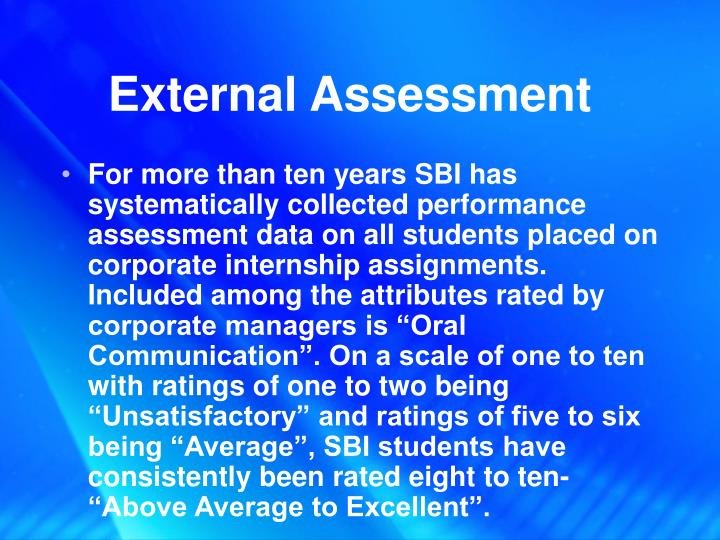 External Assessment