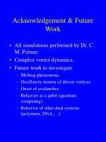 acknowledgement future work
