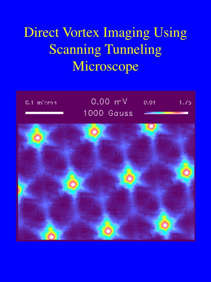 Direct Vortex Imaging Using Scanning Tunneling Microscope