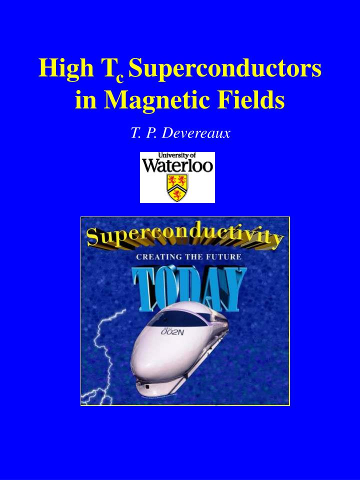 High t c superconductors in magnetic fields