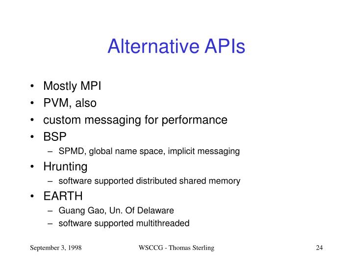 Alternative APIs