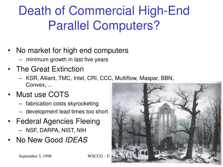 Death of Commercial High-End Parallel Computers?
