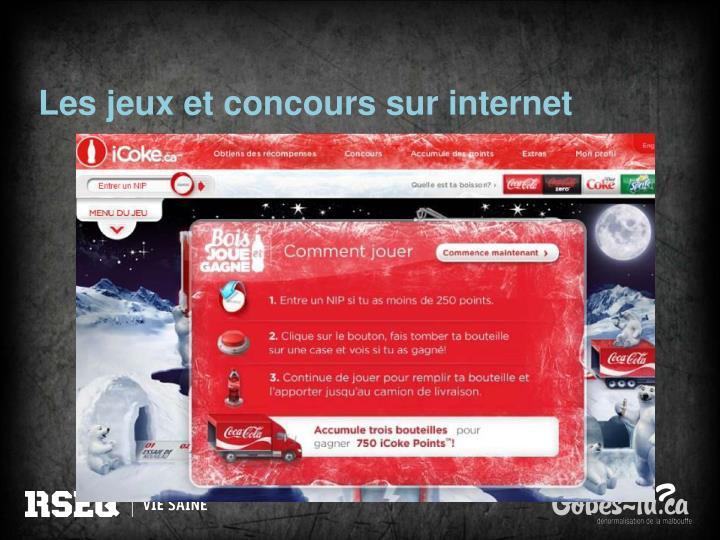 Les jeux et concours sur internet