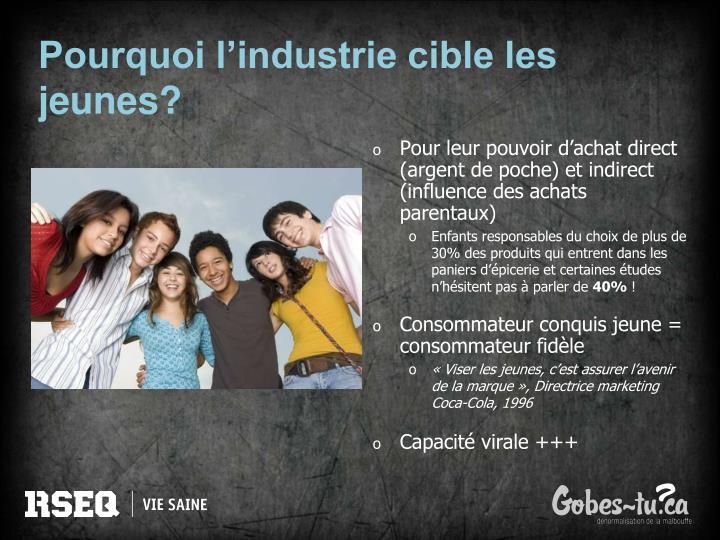 Pourquoi l'industrie cible les jeunes?