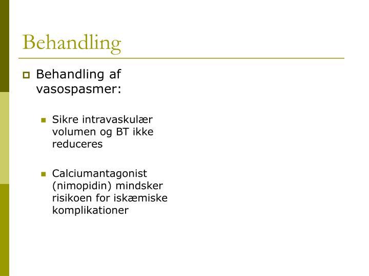 Behandling af vasospasmer: