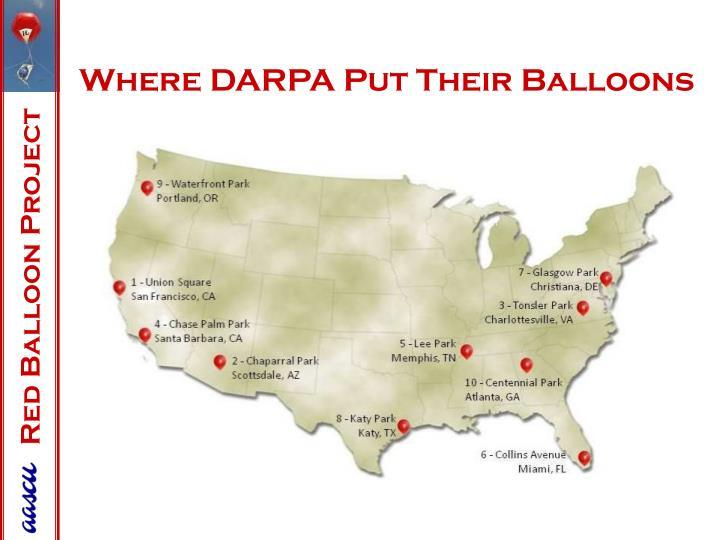Where DARPA Put Their Balloons