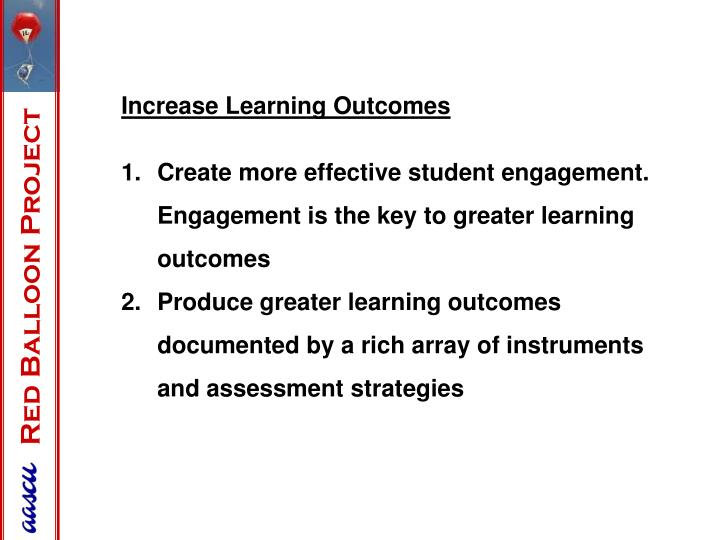 Increase Learning Outcomes