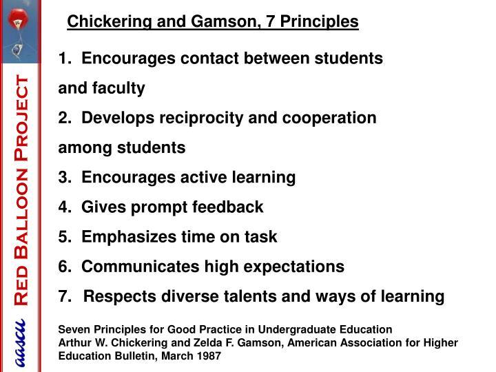 1.  Encourages contact between students