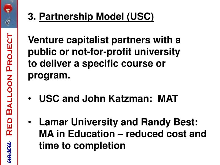 Partnership Model (USC)