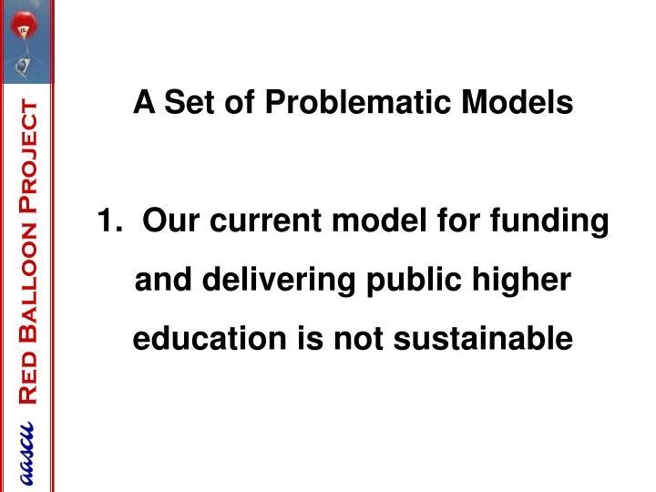 A Set of Problematic Models