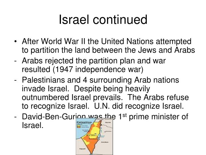Israel continued