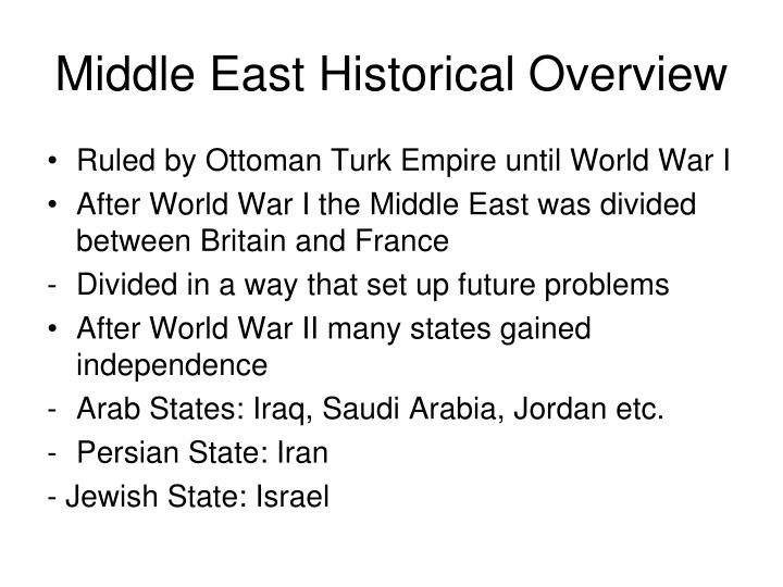 Middle east historical overview