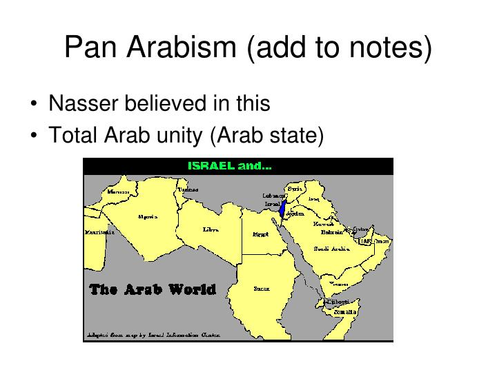 Pan Arabism (add to notes)