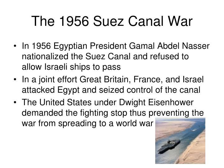 The 1956 Suez Canal War