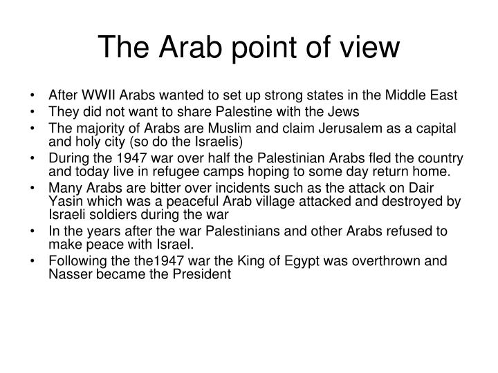 The Arab point of view