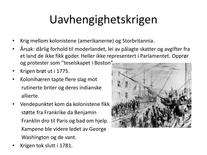 Uavhengighetskrigen