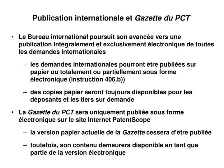 Publication internationale et