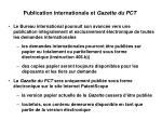 publication internationale et gazette du pct