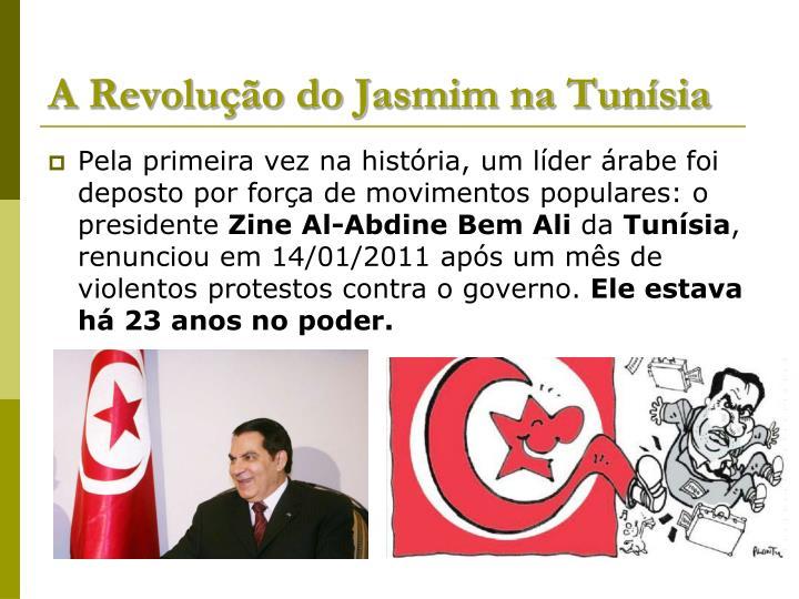 A Revolução do Jasmim na Tunísia
