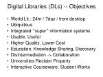digital libraries dls objectives