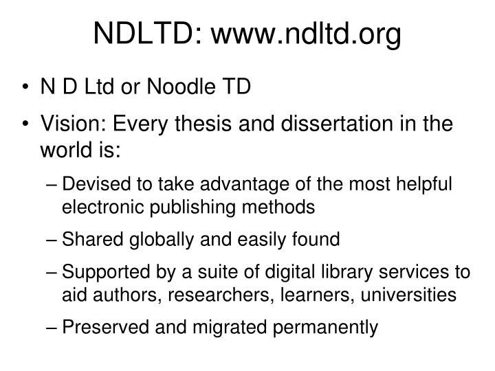 NDLTD: www.ndltd.org