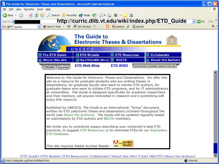 http://curric.dlib.vt.edu/wiki/index.php/ETD_Guide