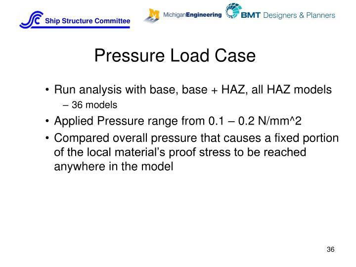 Pressure Load Case