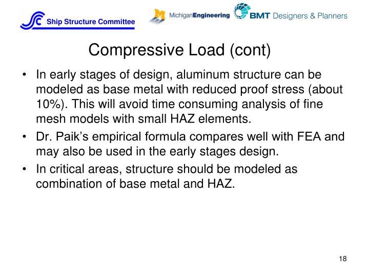 Compressive Load (cont)