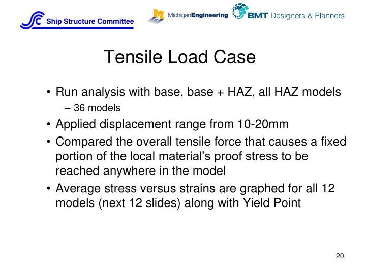 Tensile Load Case
