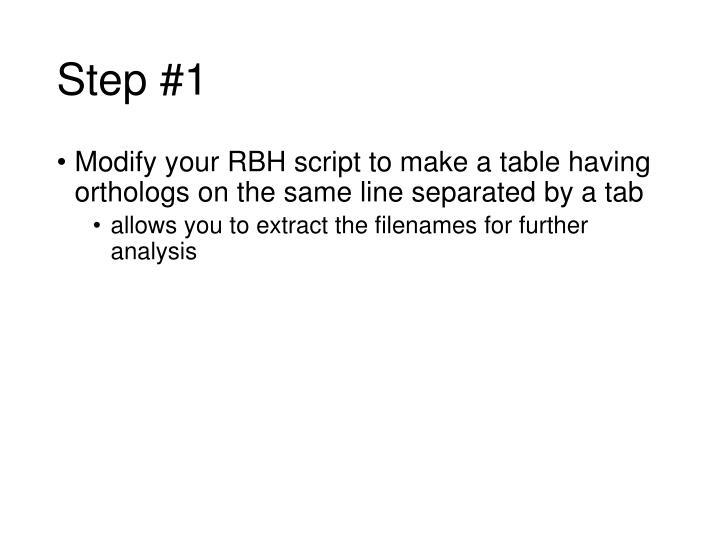 Step #1