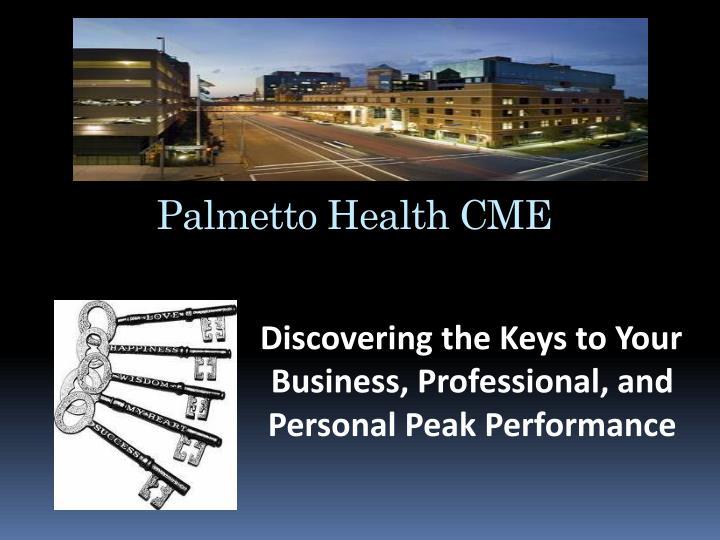 Palmetto Health CME