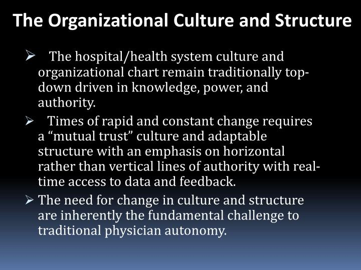 The Organizational Culture and Structure