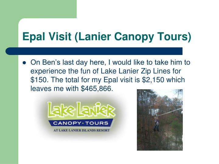 Epal Visit (Lanier Canopy Tours)