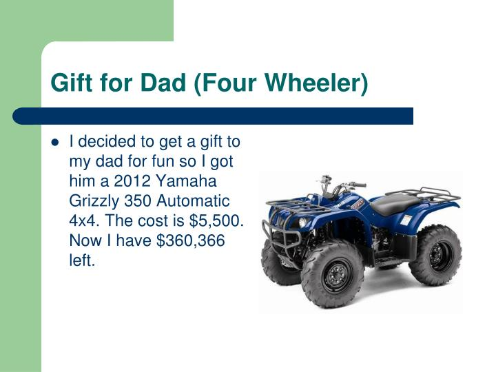 Gift for Dad (Four Wheeler)