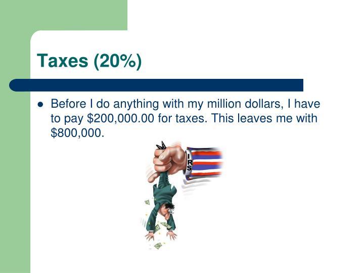 Taxes (20%)
