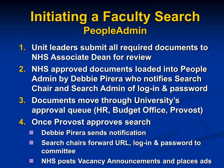 Initiating a Faculty Search