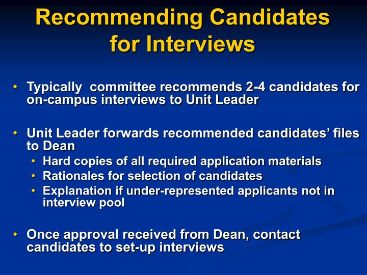 Recommending Candidates for Interviews