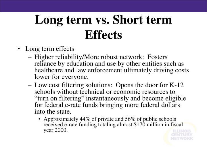 Long term vs. Short term Effects