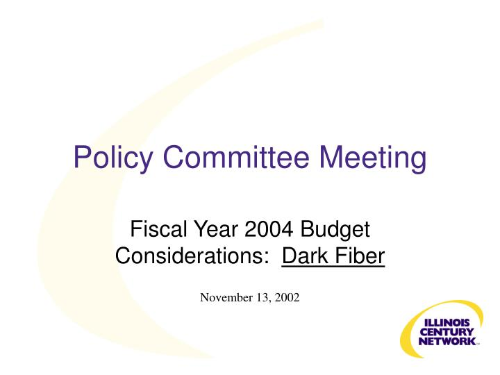 Policy Committee Meeting