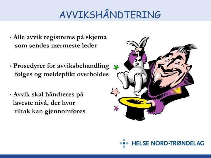 AVVIKSHÅNDTERING
