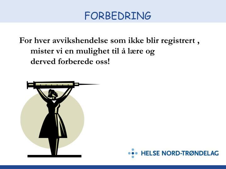 FORBEDRING