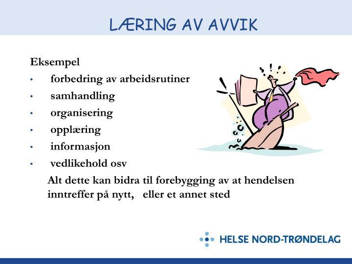 LÆRING AV AVVIK