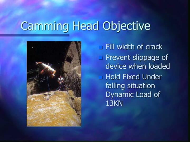 Camming head objective