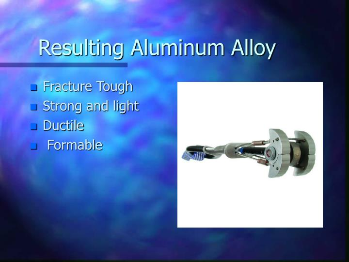 Resulting Aluminum Alloy